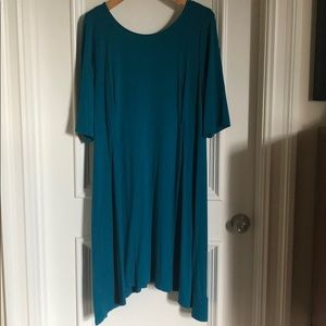 NWT Eileen Fisher Teal Dress